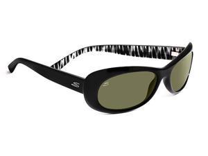 Serengeti Eyewear Sunglasses Bella 7628 Shiny Black Zebra Polarized 555nm Lens