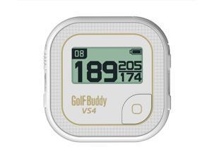Golf Buddy VS4 White/Gold GPS Rangefinder Preloaded Courses Golfbuddy