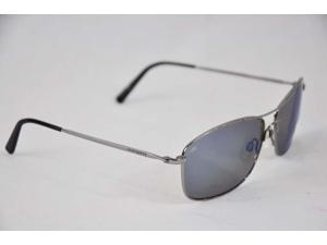 Serengeti Eyewear Sunglasses Corleone 8418 Shiny Titanium Blue Polarized Lens
