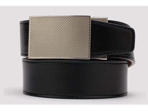 Nexbelt Tactical Defender Black Belt Pewter Buckle Adjustable Ratcheting System