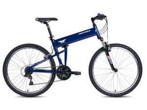 """2016 Montague Paratrooper Express 20"""" Gloss Blue 18 Speed Folding Mountain Bike"""