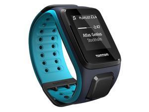 TomTom Spark Cardio + Music GPS Fitness Watch Sky Capt Blue/Scuba Blue Large