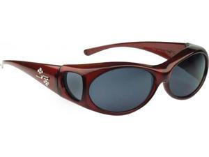 Jonathan Paul Fitovers Small Aurora Clare Polarized Gray OveRx Sunglasses