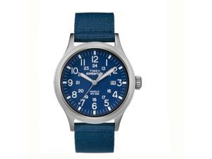 Timex Expedition Scout Blue Dial Blue Tan Strap Quartz Analog Watch