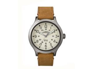 Timex Expedition Scout 43 Tan Leather with Natural Dial Watch