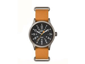 Timex Expedition Scout Orange Slip Thru Strap with Black Dial Watch