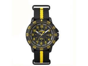 Timex Expedition Gallatin Black Slipthru Yellow Accents Classic Analog Watch