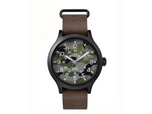 Timex Expedition Scout 43 Camo Dial with Brown Leather Watch