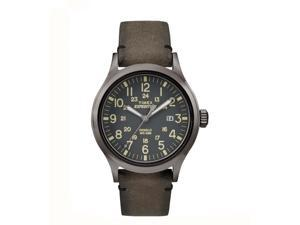 Timex Expedition Metal Scout Brown Leather Gray Dial Quartz Analog Watch