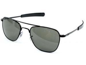 American Optical Original Pilot Bayonet 57mm Black TC Grey Sunglasses