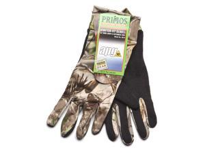 Primos Stretch-Fit Gloves with Sure-Grip & Extended Cuff - Realtree APG HD 6676