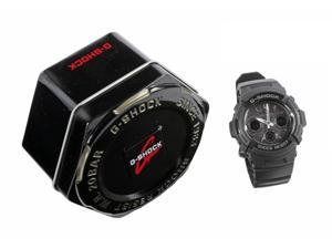 Casio G-Shock Ana-Digi Multi-Band 6 Black Resin, SS Bezel w/Gray Face AWGM100-1A