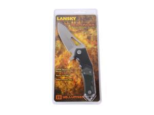 "Lansky Sharpeners LKN111 Pocket Knife 3-1/2"" Folding Blade Plain Edge Drop Point"