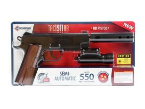 Crosman 1911 Tactical BB Pistol with mock silencer and laser sight 40005