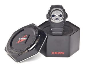 Casio G-Shock Ana-Digi Multi-Band 6 Black Resin, Blk IP Bez GryFace AWGM100B-1A