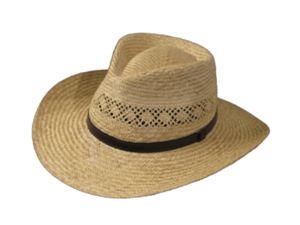 Ultrafino HAVANA FEDORA Vented Panama NATURAL Straw Hat 7 1/4