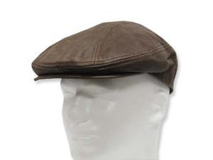 GATSBY DRIVING Scally Flat Soft Leather Ivy Cap Hat without a lining  7-1/2