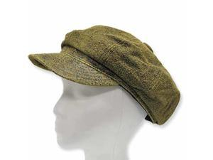 New  ENGLISH NEWSBOY ANTIQUE Leather Ivy Cap Hat  7 1/8