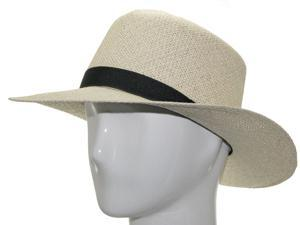 TRAVEL ROLLUP Packable Foldable Panama Natural Straw Hat  7 1/8