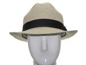 UNIQUE PACKABLE Fedora Panama straw Hat Stingy Brim 7 1/2
