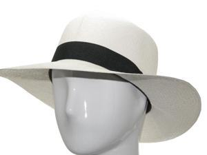 CARIBBEAN OPTIMO Panama Hat White Straw Rollup 7 3/8