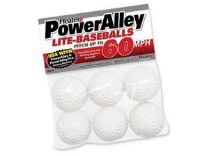 6 Pack Trend Sports Heater PowerAlley 60 MPH White Lite Baseballs HSW14