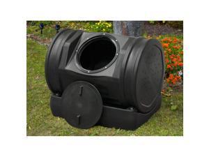 Good Ideas Inc Soil Machine Pro Black With Compost Tea Rain Barrel
