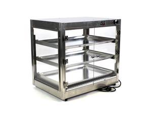 HeatMax Commercial Countertop Food Warmer Display Case With Water Tray 29x20x27