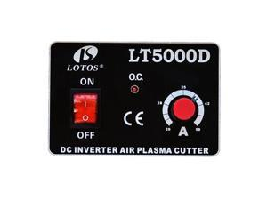 Lotos Dual Voltage (110/220VAC) 50 Amp Plasma Cutter without Pilot Arc LT5000D