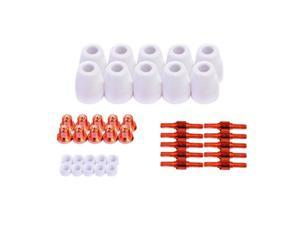Lotos Welding Consumables 40 Piece Package Nozzles Electrodes Cups Rings LCON40