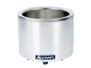 AdCraft Stainless Steel 7/11 Quart Round Warmer Cooker FW-1200WR