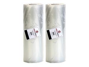 "2 Jumbo Commercial Bargains 11"" x 50'  Vacuum Sealer Saver Rolls Bags Freezer"