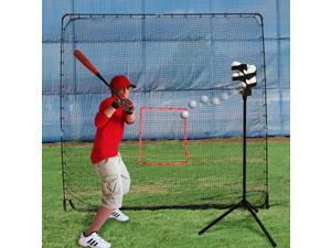 Trend Sports Heater Combo Baseball Soft Toss Machine & BigPlay Pitching Net ST99