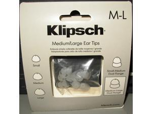 Klipsch DF LG C Medium-Large Size Dual Flange Replacement Ear Tip - 4 Pair Per Package - Clear 1008373