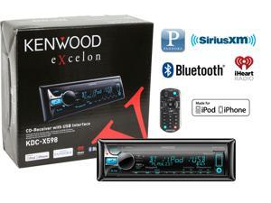 Kenwood eXcelon KDC-X598 In Dash CD Receiver with Bluetooth KDCX598 KDCX598B