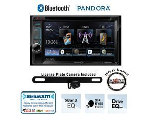 """Kenwood DDX372BT 6.2"""" DVD Receiver with Built in Bluetooth, License Plate Rear Backup Camera and a FREE SOTS Air Freshener"""