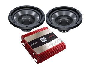 "Kenwood Dual Bass Package - 2 Kenwood KFC-W112S 12"" Subs + Dual XPA2100 2-Channel Amplifier"