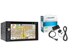"Jensen VX7020 Double Din Navigation DVD/CD Receiver with 6.2"" Touchscreen and SXV300V1 SiriusXM Tuner and Antenna"