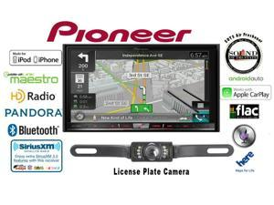 "Pioneer AVIC-8100NEX 7"" DVD Navigation Receiver & License Plate Backup Camera and a FREE SOTS Air Freshener"