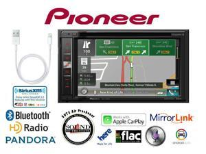 Pioneer AVIC-5100NEX CD DVD Navigation GPS Receiver w/ Lightning to USB Adapter and a SOTS air Freshener