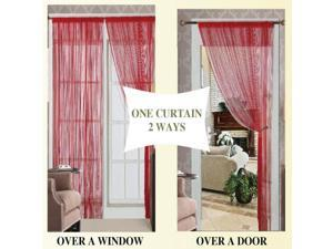 Threads String Curtain 55 x 84 Two Pack - 9 Colors