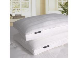 Elle 600 TC Damask Windowpane Down Alt Cotton Jumbo Pillow, 2-Pack White