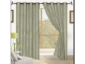 """Sherry Crushed Satin Grommet Window Panel 84"""" - 2 PACK"""
