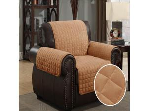 Furniture Protector Pet Cover Quilted Microsuede Chair 64 x 76 - Camel