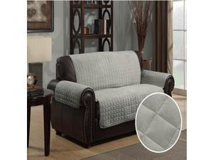 Furniture Protector Pet Cover Quilted Microsuede Loveseat 88 x 76 - Gray
