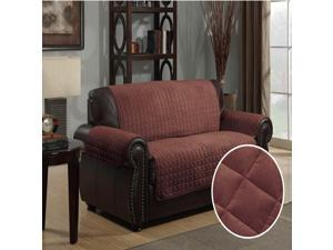 Furniture Protector Pet Cover Quilted Microsuede Loveseat 88 x 76 - Brown