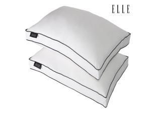 Elle Rich Pinstripe 1000T Down Alternative Jumbo Pillow Two Pack