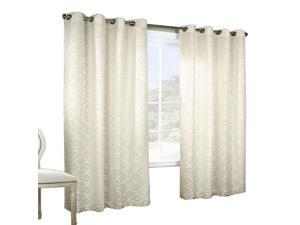 Thermalogic Anna Jacquard Lace Grommet Top Window Panel Pair Ivory