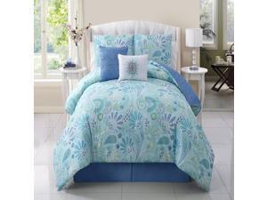 VCNY Harmony 5 Piece Comforter Set Blue