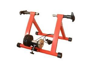 Soozier Adjustable Magnetic Resistance Indoor Exercise Bicycle Trainer Stand - Red